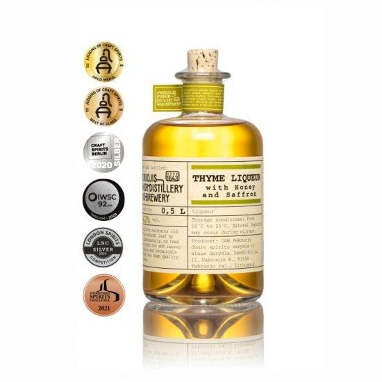 Thyme Liqueur With Honey And Saffron